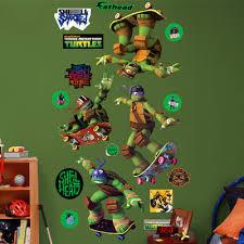 Ninja Turtle Wall Decor Fathead Nickelodeon Teenage Mutant Ninja Turtles Skateboarding