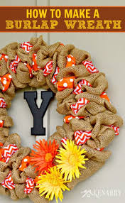 Home Decor With Burlap How To Make A Burlap Wreath With Accent Ribbon