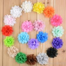 flowers for headbands 2 baby hair flowers for headbands fabric chiffon flowers without