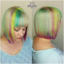 beveled bob haircut pictures pastel neon hologram hair color beveled bob haircut with blunt