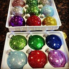 glitter ornaments happiness is