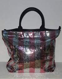 victoria secret tote bag black friday victoria secret sparkle glitter silver drawstring tote bag