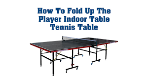franklin sports quikset table tennis table how to fold up the player indoor table tennis table youtube