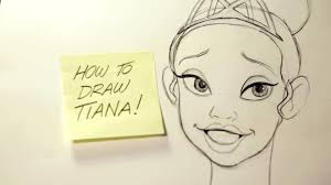 film walt disney youtube how to draw tiana from the princess and the frog