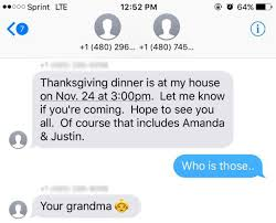 this was invited to the wrong s thanksgiving
