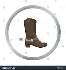 s boots usa cowboy s boots icon style stock vector 560607211
