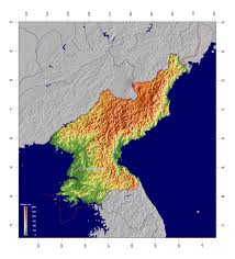 Asia Physical Map by Large Detailed Physical Map Of North Korea North Korea Asia