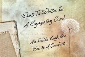 words to write in sympathy card k k club 2017