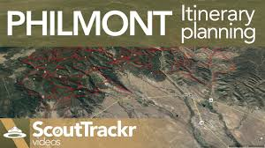 Philmont Scout Ranch Map Philmont Itinerary Planning For Scouting Youtube