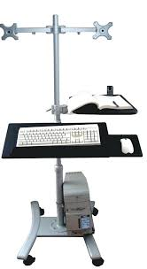 computer desk with tv mount this mobile adjustable computer pole