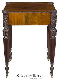 Maharani Coffee Table by A Carved Mahogany Worktable Salem Mcintire School C 1810 1820