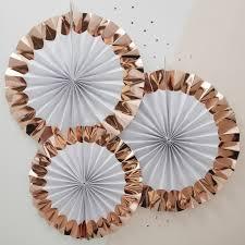 white paper fans white gold paper fan decorations team