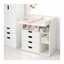 stuva changing table with 4 drawers white ikea