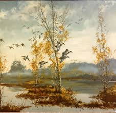 below is another fall depiction of waterfowl
