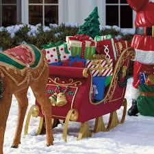 fiber optic sleigh outdoor decor display