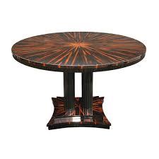 Art Deco Dining Room Set by Art Deco Dining Table Wood Veneer Macassar Ebony Glossy