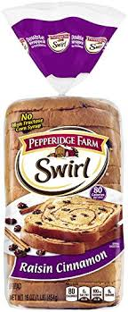 pepperidge farm light bread pepperidge farm swirl cinnamon raisin breakfast bread 16 oz amazon