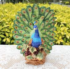 popular peacock figurin buy cheap peacock figurin lots from china ceramic lucky peacock statue home decor crafts room decoration wedding handicraft ornament porcelain animal figurines