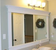 how to frame a bathroom mirror with molding bathroom how to frame a bathroom mirror with crown molding in