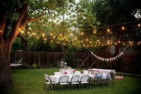 Lights For Backyard by Outdoor Party Decoration Ideas Outdoor Halloween Party Decoration