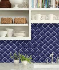Delightful Innovative Blue Backsplash Tile Best 25 Blue Kitchen