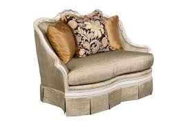 Large Accent Chair Bt 069 Italian Gray Large Accent Chair In White Finish Accent