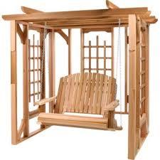 5 Ft Patio Swing With Cedar Pergola Create by Pergolas You U0027ll Love Wayfair
