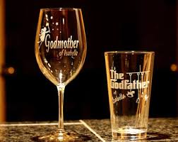 godmother wine glass custom engraved godmother wine glass godfather mug set