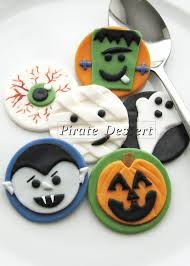 edible halloween cupcake toppers monsters fondant cake