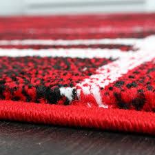 tappeto moderno rosso tappeto moderno di design pelo corto alla moda tappeto melange in
