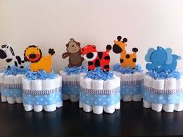 baby shower centerpieces boys mini jungle cakes set of 6 safari baby shower baby shower