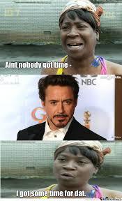 Sweet Brown Meme - sweet brown got time for iron man by clarkrose9 meme center
