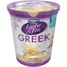 dannon light and fit nutrition dannon light fit greek vanilla nonfat yogurt 32 oz walmart com