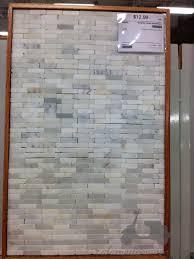 Kitchen Mini Brick Marble Backsplash AIRMAXTN - Gray subway tile backsplash