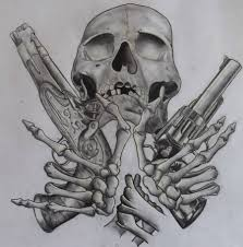 tattoos of skulls and guns gun tattoo u2013 skull n guns tattoo design