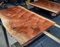 Slab Wood Table by Wood Table Top Etsy