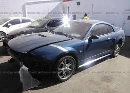 2000 blue mustang 1fafp4048yf221134 salvage blue ford mustang at ogden ut on