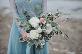 stormy scandinavian wedding inspiration featuring a dramatic blue