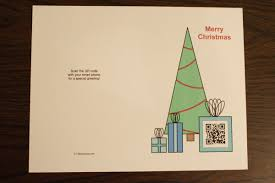 qr code christmas card chica and jo