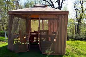 Mosquito Netting Patio 27 Gazebos With Screens For Bug Free Backyard Relaxation