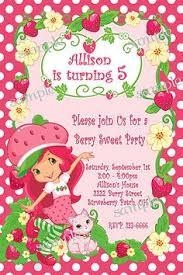 strawberry shortcake birthday invitations kawaiitheo com