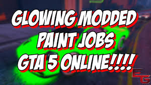 gta 5 online secret glowing car colors glowing green red and