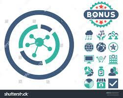 connections diagram icon bonus images vector stock vector