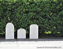 gravestones for halloween diy halloween tombstones first home love life