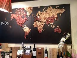 Cork World Map by My Local Wine Store Made This With Corks 2048 X 1536 Oc