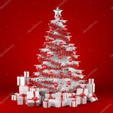 white christmas tree on red background u2014 stock photo arquiplay77