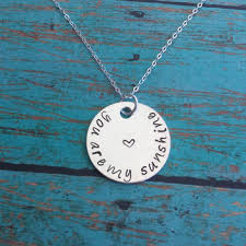 Personalized Hand Stamped Jewelry Best You Are My Sunshine Necklace Products On Wanelo