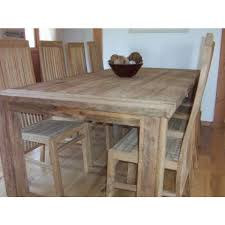 Sustainable Dining Table Reclaimed Teak Dining Table And Chair Set 240cm Taplock With Vika