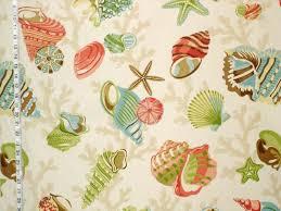 Seashell Crib Bedding Seashell Fabric Starfish Sea Coral Funky From Brick House