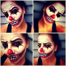 scary clown makeup i did on myself this is halloween